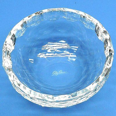 OLEG CASSINI SMALL Astor Crystal Bowl NEW LUXURIOUS CLEAR FACETED GIFT BOX CANDY