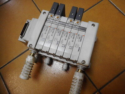 SMC PNEUMATIC -- MANIFOLD 4 off 5 PORT VALVES -- PLUS MORE -- VQC2100N-5B