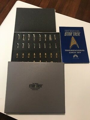 The Official Star Trek Tridimensional Chess Set Franklin Mint