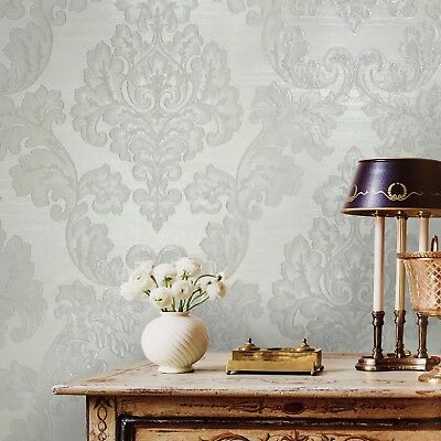 Stripe Wallpaper Light Taupe SD25718 Large Scale Stripe DOUBLE roll FREE ship