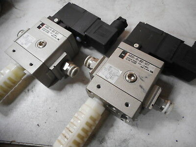SMC PNEUMATIC -- SOFT START VALVE -- Qty of 2 -- 24VDC -- AV2000-02-5DZ-X217