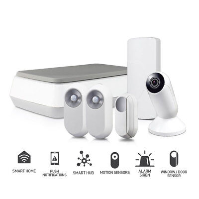 Swann One Smart Hub Alarm Security System Wifi Motion + Door Sensor Camera Siren