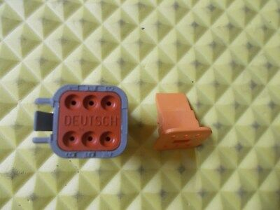 DEUTSCH DT06-6S DT Series 6-Way Plug & W6S Wedgelock