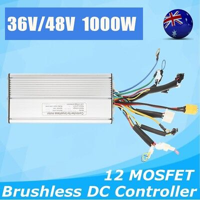 AU 36V/48V 1000W E-Bicycle E-bike Scooter Brushless DC Motor Speed Controller