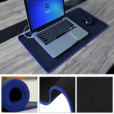 Extra Large 60cm*30cm Blue Gaming Mouse Pad Mat for PC Laptop Macbook Anti-Slip
