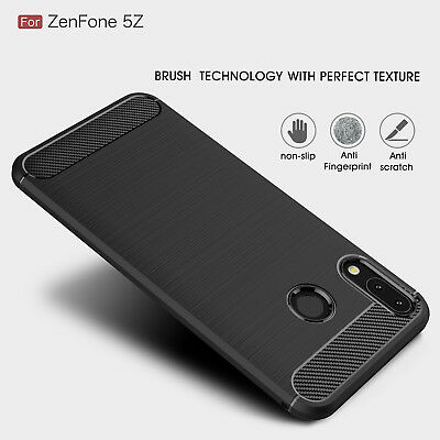 For Asus Zenfone 5Z ZS620KL Brushed TPU Soft Rubber Skin Case Ultra-thin Cover