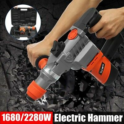 Max 2280W Demolition Rotary Jack Hammer Jackhammer Electric Concrete Drill