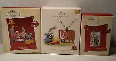 Nw 3 Hallmark Keepsake Looney Tunes Magic Ornaments Bugs Bunny Daffy Duck Tweety
