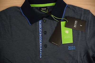HUGO BOSS T Shirt Polo Blue Grey Turquoise New Mens Cotton 2018 GENUINE