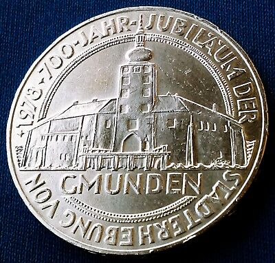 1978 Austria 100 Schillings Gmunden 700 Years Brilliant Uncirculated Silver Coin
