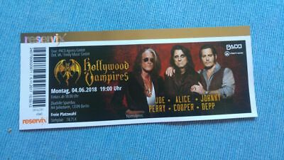 2 tickets hollywood vampires in berlin am eur. Black Bedroom Furniture Sets. Home Design Ideas