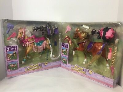 2 SET LOT Fancy Parade Grand Champions 50077 Hackney Mare & Palomino 1990's Rare
