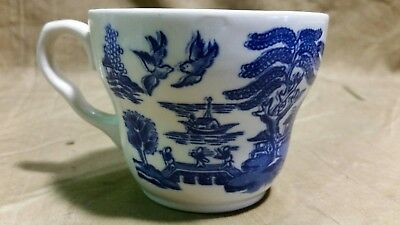 VINTAGE BLUE Willow Tea Cup with Saucer EIT LTD England - $4.00 ...