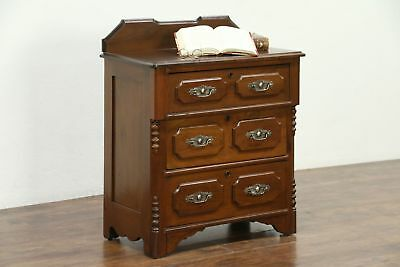 Victorian Antique Walnut 1880 Small Chest, Nightstand or Commode #28736