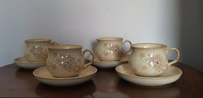 4 X Denby Coloroll Tea Cup and Saucer   (pt42)