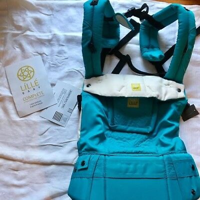 LilleBaby Complete Embossed Baby Carrier - Teal - New