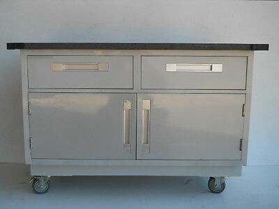 """USED Mobile Instrument Cabinet, Counter Height, 28"""" x 50"""" x 34"""""""