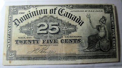 Dominion of Canada 25 cents 1900 paper money (#35d)