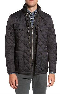 NEW Barbour International Windshield Quilted Jacket - Black - Size XL