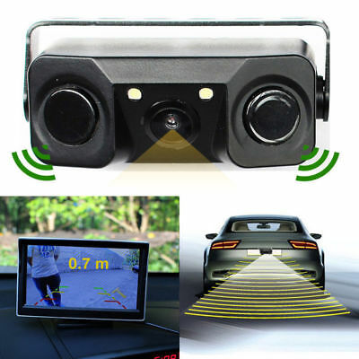 3 in 1 Car Parking Kit Reverse Parking Radar Sensor Car Camera Rear View Backup