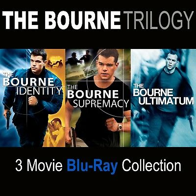 THE BOURNE TRILOGY Blu-Ray 3 Film Collection *New (No Digital Copy) Sealed