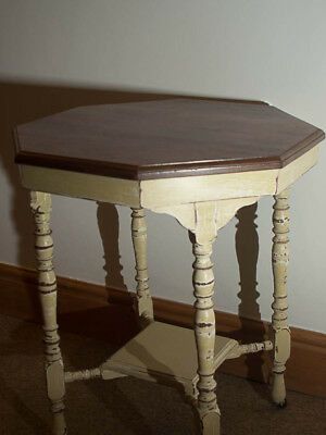 Octagonal Occasional Table Shabby Chic