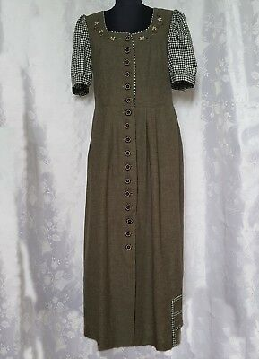 Authentic Tyrol Oktoberfest Dirndl Linen Blend Women's Dress-Size:us16/Eu44