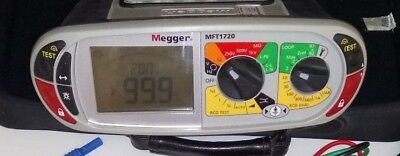 MEGGER MFT1720 Multi Function Tester 17th Edition SP5 Remote Probe etc