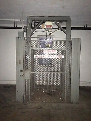 Used Industrial Coffing 1700 lb. Capacity Freight Elevator 10' Lift