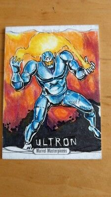 2016 Marvel Masterpieces Ultron Sketch By Artist Ken Racho Nm/Mint