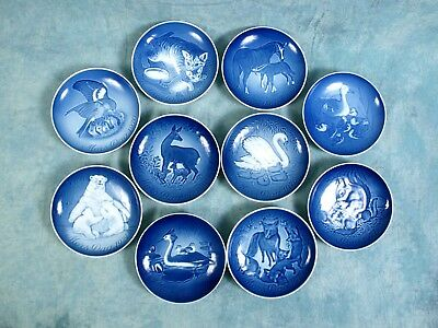 10 Vintage ROYAL COPENHAGEN MOTHERS DAY 1970-79 Bing & Grondahl Plates Baby