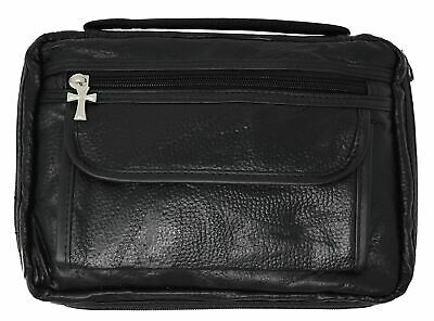 Garrison Grip Concealed Carry Black Genuine Leather Bible Cover Gun Case
