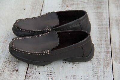KENNETH COLE REACTION Boys NEW Sz 3 Youth Big Kids Brown Loafers LEATHER Shoes
