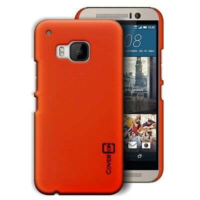 Neon Orange Hard Case for HTC One M9 - Slim Fit Matte Back Phone Cover