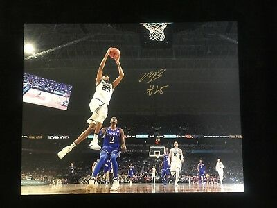 8fcd3b0d158 2018 National Champions Villanova Mikal Bridges Autographed 11X14 Photo  3 W  coa