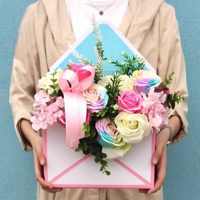 8*24*35cm paper envelope shape basket of flowers as send gifts party birthday fl