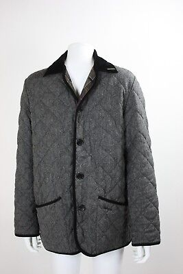 Men's Barbour Gray quilted gray Jacket Coat Size 38 Men's medium