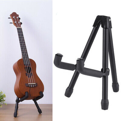Folding Electric Acoustic Bass Guitar Stand A Frame Floor Rack Holder Hanger BLK