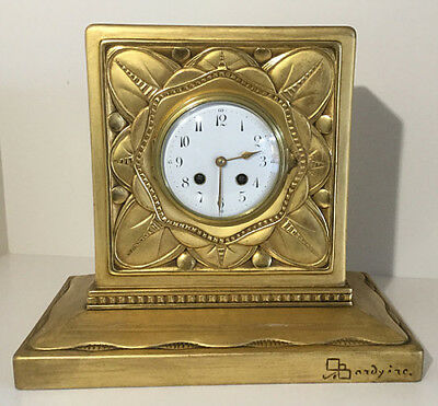 French Giltwood Mantle Clock