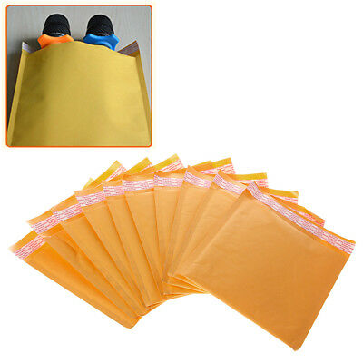 10 Pcs Kraft Bubble Mailers Yellow Padded Mailing Bags Paper Shipping Envelopes