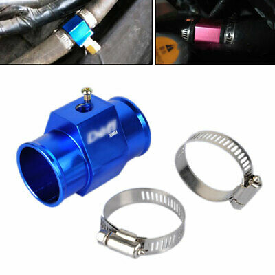 Blue Water Temperature Joint Pipe Temp Sensor Gauge Radiator Hose Adapter 36mm