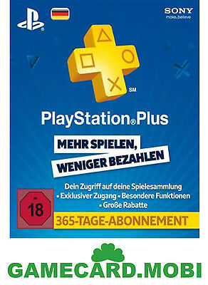 PSN Plus 365 Tage - Playstation Live Network Karte 1 Jahr fur DE - PS3 PS4 Card★