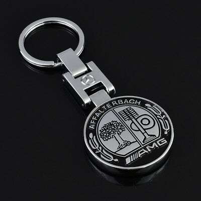 Mercedes AMG Affalterbach Stainless Keyring Car Logo Key Chain Fobs