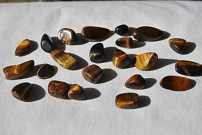 Tigers Eye Mini Tumbled Stones ~ 50 Grams - 22pcs ~ Free Postage