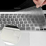 Apple Clear Macbook Keyboard Cover Silicone Skin Protector (Europe Layout UK