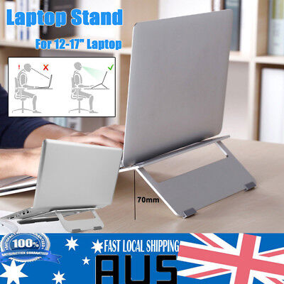 Portable Aluminium Laptop Stand Tablet Holder Tray Desk for MacBook Notebooks AU