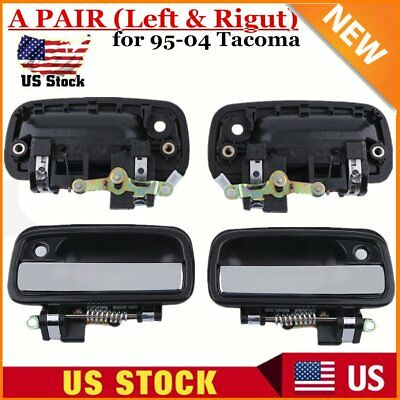 1Set Chrome Outside Left & Right Door Handle Exterior For 95-04 Toyota Tacoma BB