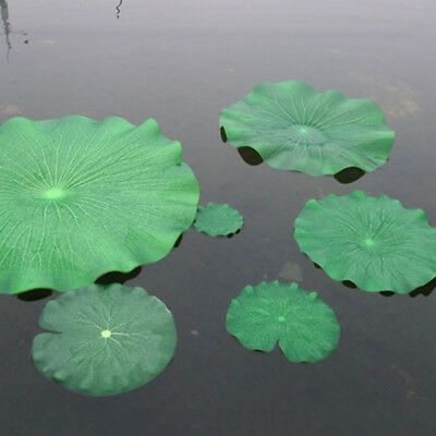 Artificial Fake Lotus Leaves Leaf Water Lily Floating Pool Plants Garden Decor