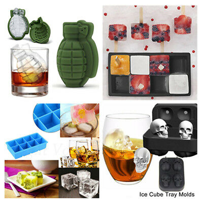 Silicone Ice Cube Tray Mold Bar Party Ice Cake Chocolate Mould Tray Whiskey