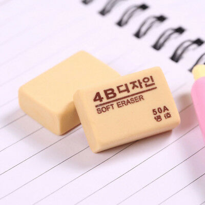 2pcs 4B 50A Rubber Pencil Sketchbook Eraser for Art Drawing Painting Stationary